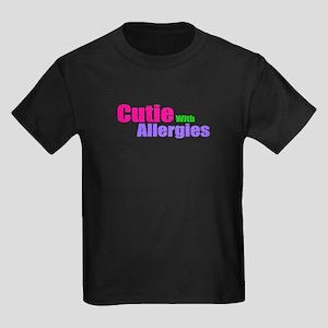 Cutie With Allergies Kids Dark T-Shirt