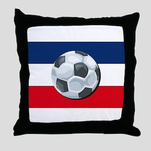 Serbia & Montenegro Soccer Throw Pillow