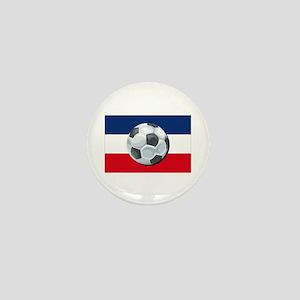 Serbia & Montenegro Soccer Mini Button