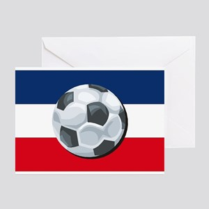 Serbia & Montenegro Soccer Greeting Cards (Package