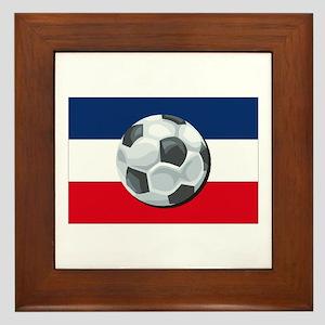 Serbia & Montenegro Soccer Framed Tile