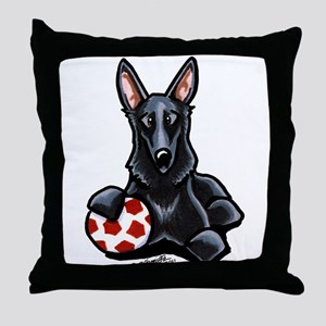 Black GSD Soccer Pro Throw Pillow