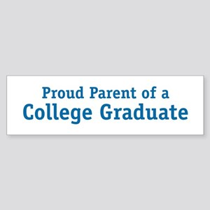 Proud College Parent Bumper Sticker