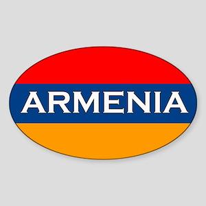 Armenian Stickers Oval Sticker