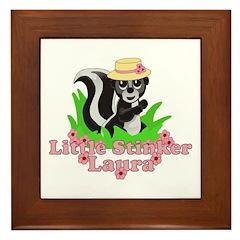 Little Stinker Laura Framed Tile