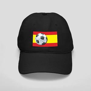 Spain Soccer Black Cap