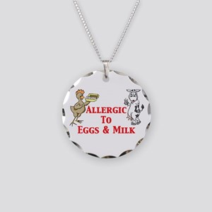 Allergic To Eggs & Milk Necklace Circle Charm