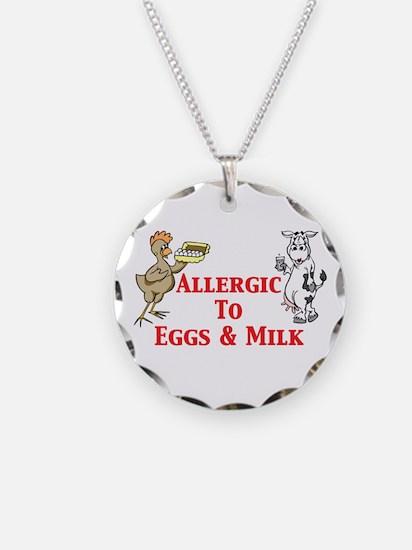 Allergic To Eggs & Milk Necklace