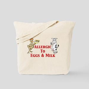 Allergic To Eggs & Milk Tote Bag