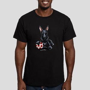 Black GSD Soccer Pro Men's Fitted T-Shirt (dark)