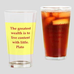 Wisdom of Plato Drinking Glass