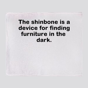 What the Shinbone is really f Throw Blanket