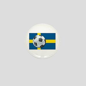 Swedish Soccer Mini Button