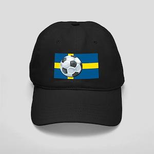 Swedish Soccer Black Cap