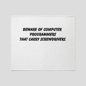 Bad Programming Throw Blanket