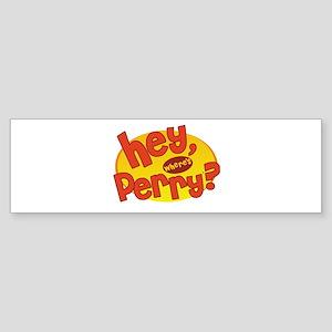 Where's Perry? Sticker (Bumper)