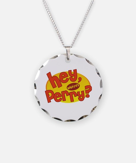 Where's Perry? Necklace Circle Charm