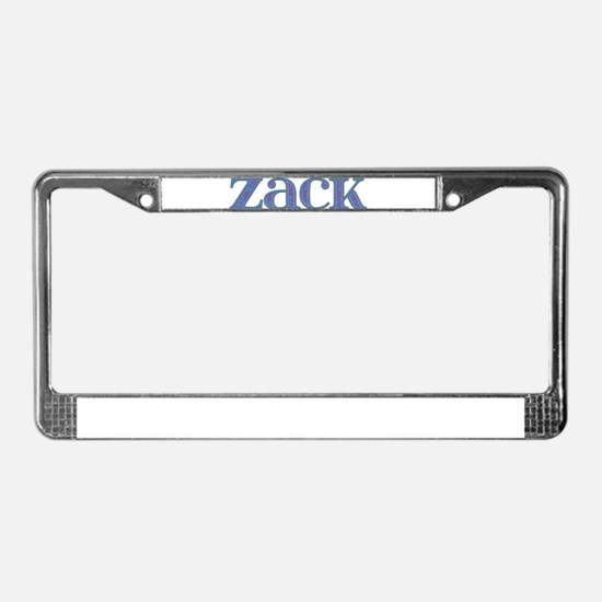 Zack Blue Glass License Plate Frame