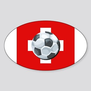 Swiss Soccer Oval Sticker