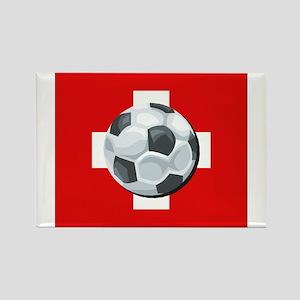 Swiss Soccer Rectangle Magnet