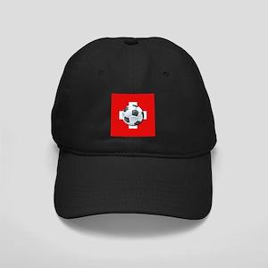 Swiss Soccer Black Cap