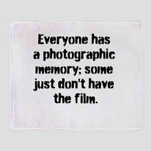Photographic memories Throw Blanket