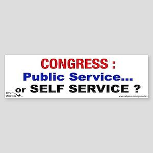 Congress: Public Service or S Sticker (Bumper)
