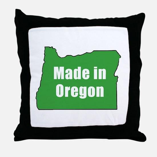Cute Made in oregon Throw Pillow