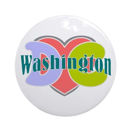 Washington D.C Ornament (Round)