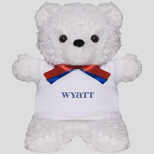 Wyatt Blue Glass Teddy Bear