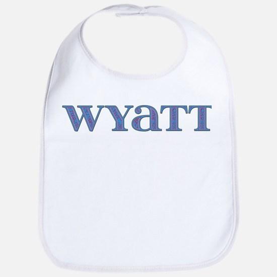 Wyatt Blue Glass Bib
