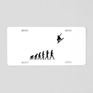 Snowboarding Aluminum License Plate