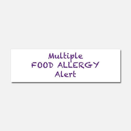 Multiple Food Allergy Alert Car Magnet 10 x 3