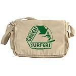 Green Surfers Messenger Bag