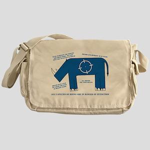 Rhino Facts Messenger Bag