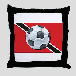 Trinidad & Tobago Soccer Throw Pillow