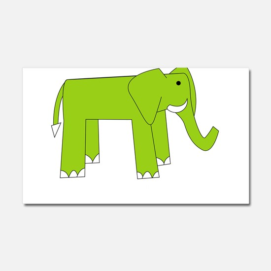 E is for Elephant Car Magnet 20 x 12