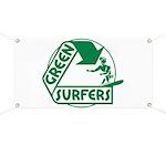 Green Surfers Banner
