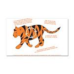 Tiger Facts Car Magnet 20 x 12