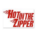 Hot in the Zipper Car Magnet 20 x 12