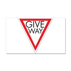 Give Way Car Magnet 20 x 12