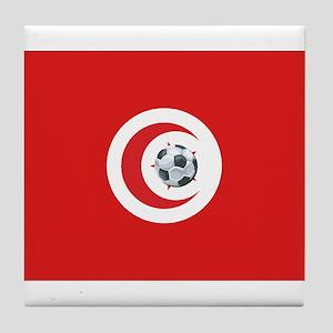 Tunisia Soccer Tile Coaster