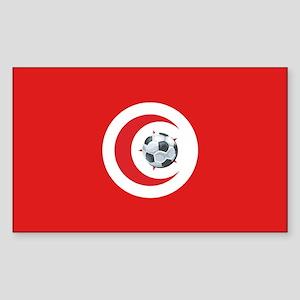Tunisia Soccer Rectangle Sticker