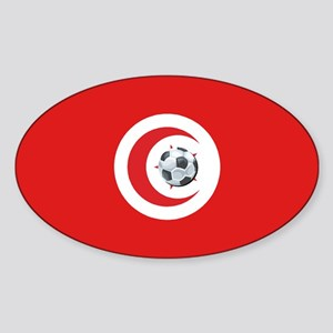 Tunisia Soccer Oval Sticker