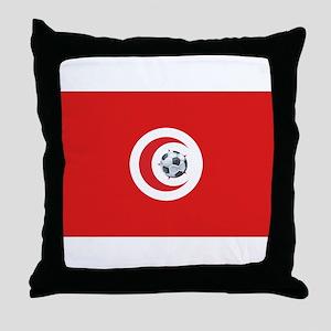 Tunisia Soccer Throw Pillow