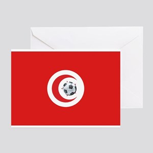 Tunisia Soccer Greeting Cards (Pk of 10)