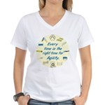 Agility Time v 2 Women's V-Neck T-Shirt