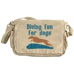 Diving Dog Messenger Bag