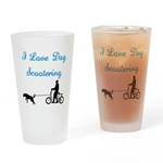 Dog Scootering Drinking Glass