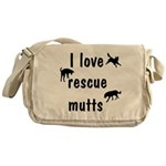 I Love Rescue Mutts Messenger Bag